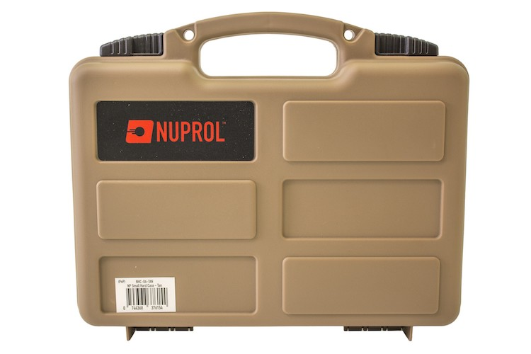 Pistol Hard Case Tan (PnP Foam) NUPROL