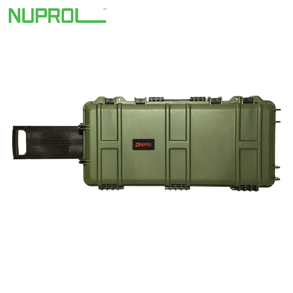 NP Medium Hard Case with Wheels Green (PnP Foam) NUPROL