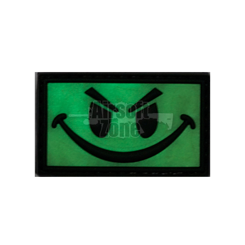 Smiley Face Light PVC Velcro Glow in the Dark Patch