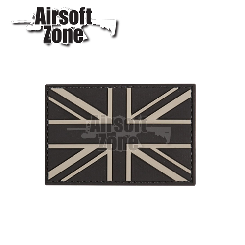 UK Flag Union Jack (Black) PVC Velcro Patch