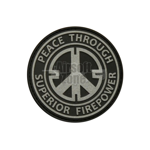 Peace Through Firepower PVC Velcro Patch