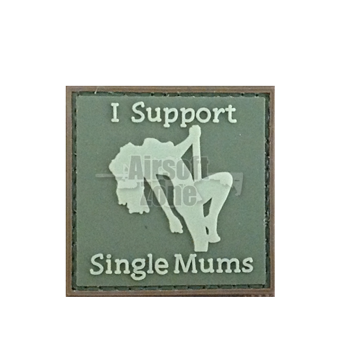 I Support Single Mums (OD) PVC Velcro Patch