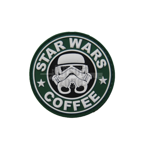 Star Wars and Coffee PVC Velcro Patch