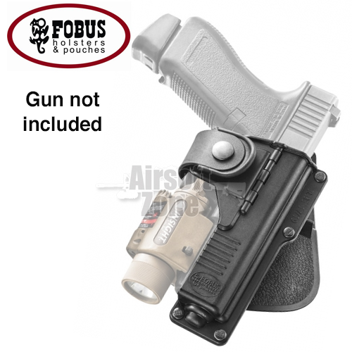 Holster for Glock 19 with Light or Laser on Paddle FOBUS