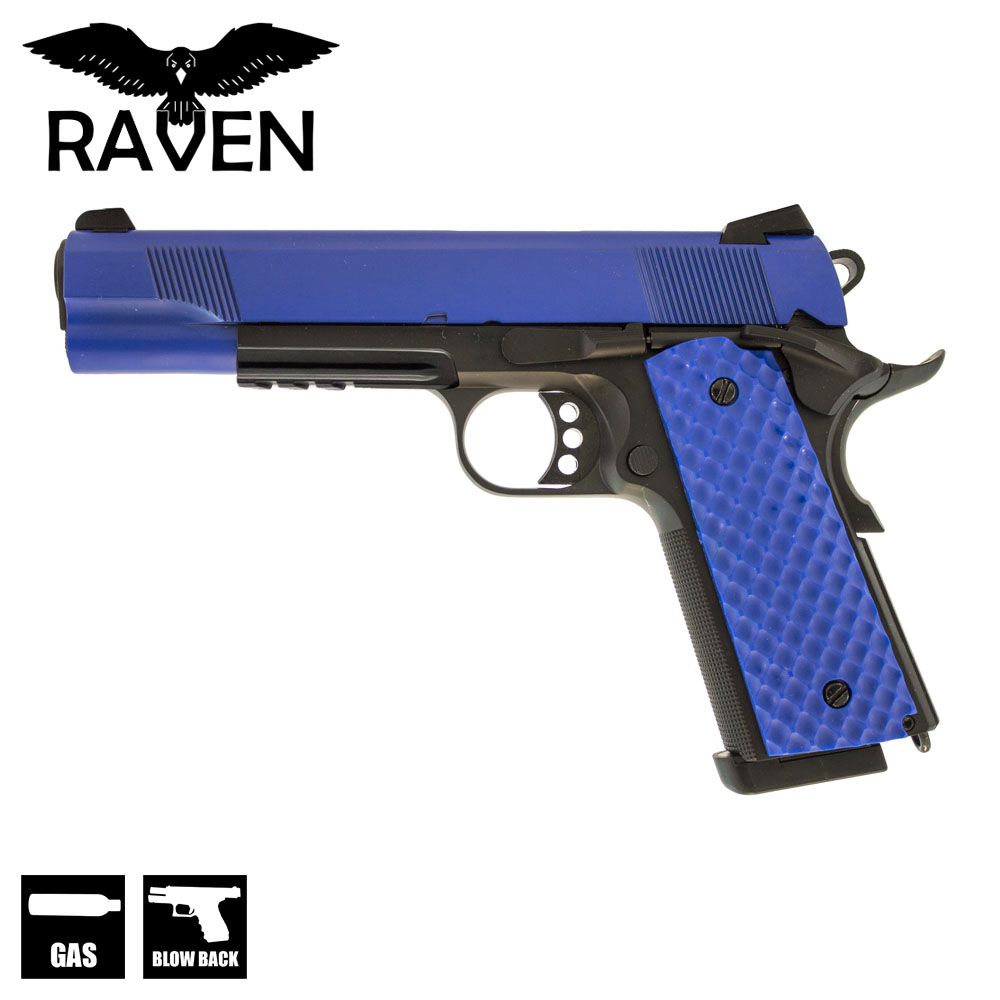 MEU M1911 with Rail Pistol Two Tone Blue GBB Raven