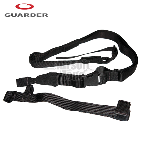 Tactical Three Point Sling (wide version) Black Guarder