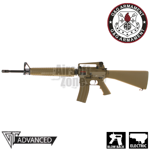 (GEN 2) TR16 A3 Rifle Blowback Tan AEG G&G