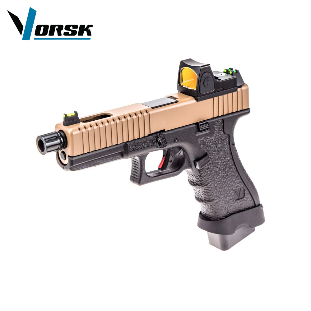 EU17 Tan with Red Dot BDS Optic Pistol GBB VORSK