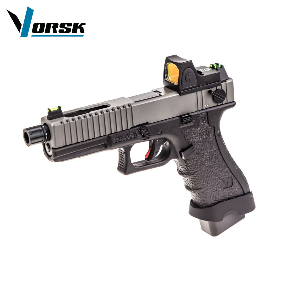 EU18C Grey with Red Dot BDS Optic Full Auto Pistol GBB VORSK