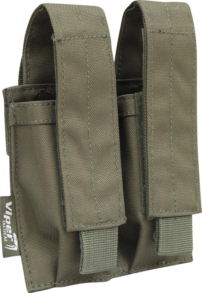 Double Pistol Magazine Pouch OD Green Viper Tactical