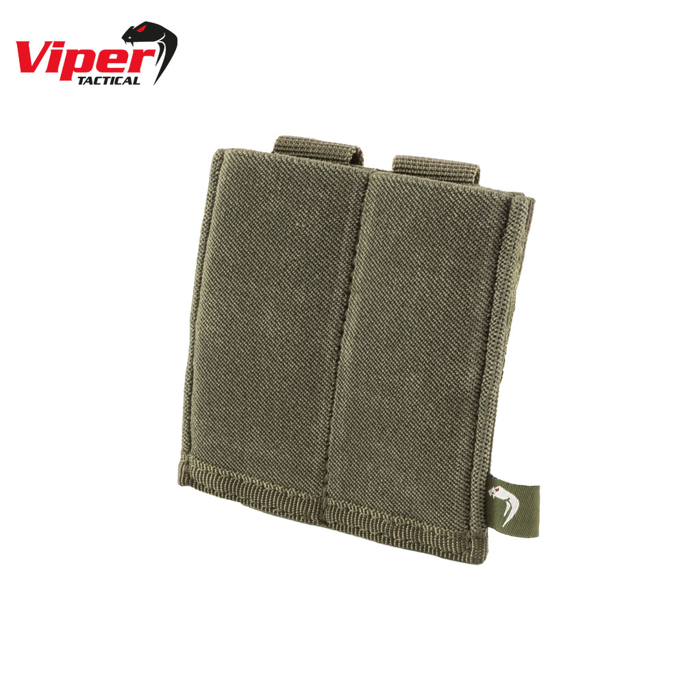 Double Pistol Mag Plate Pouch Green Viper Tactical