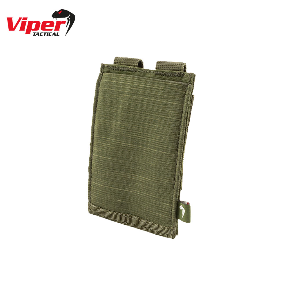 Single Rifle Mag Plate Pouch Green Viper Tactical