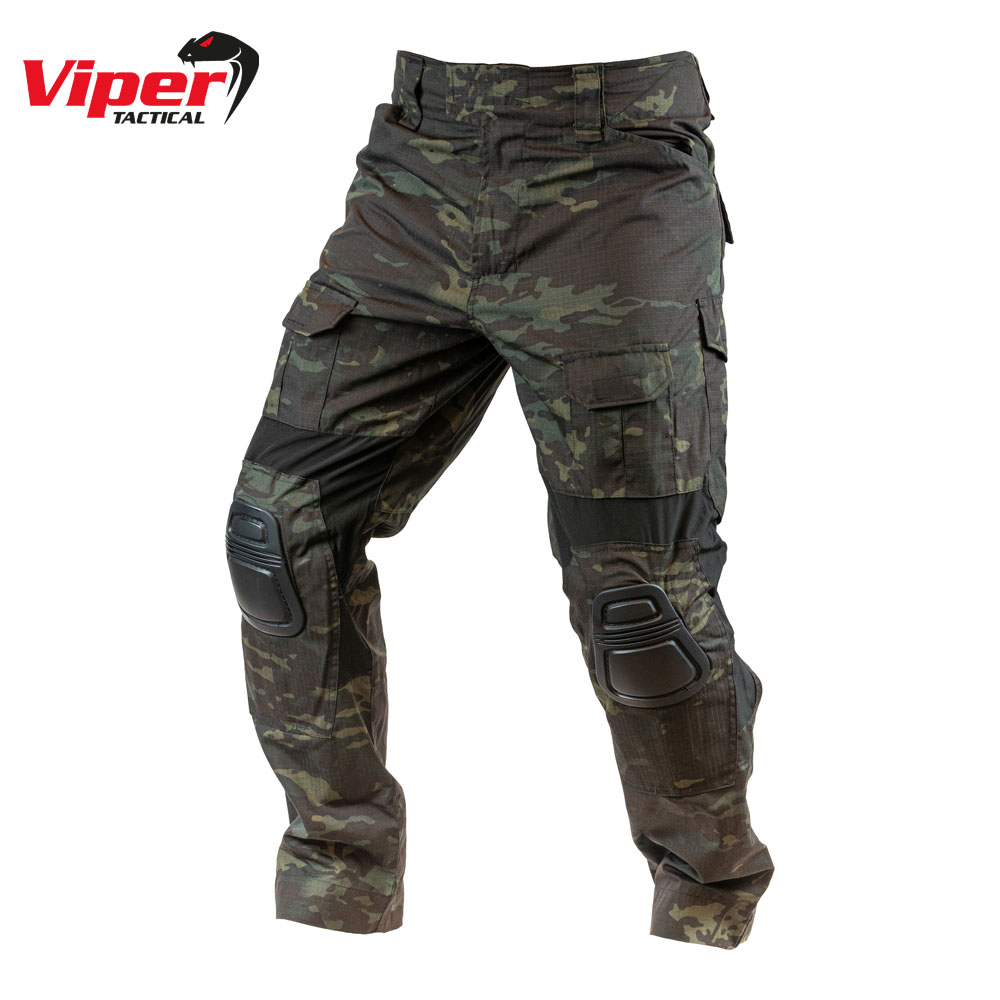 GEN 2 Elite Tactical Trousers with Knee Pads V-CAM Black Viper Tactical