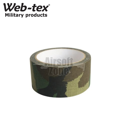 Camouflage Fabric Tape Woodland Camo WEB-TEX