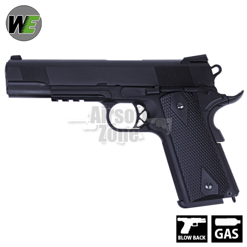 M1911 with Rail Full Metal Pistol GBB WE
