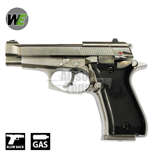 M84 Cheetah Silver Replica Pistol GBB WE