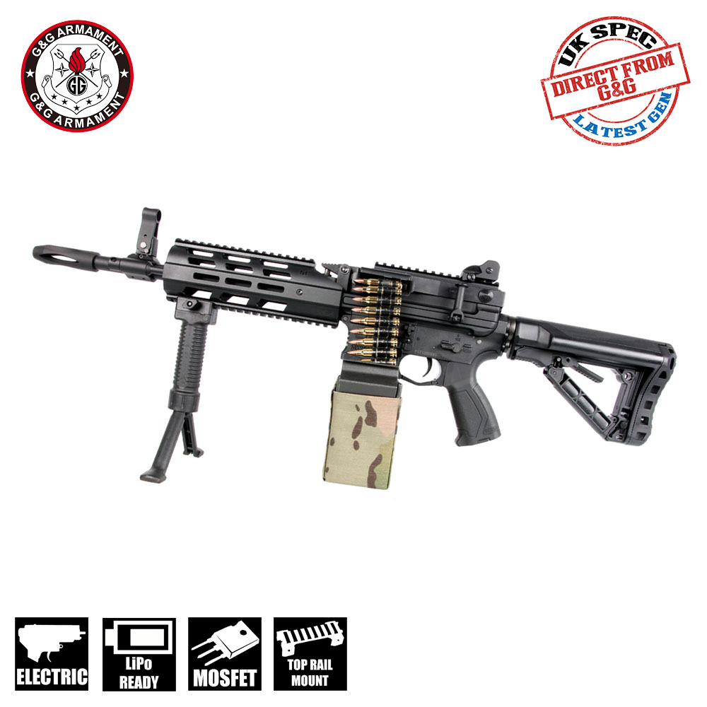 CM16 LMG M4 with 2500 Round Box Magazine M-Lok AEG G&G